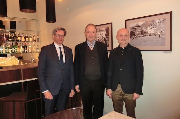 (v. l.) Die Präsidenten Schretter, Pan und Bonazzi