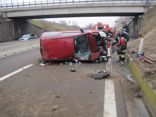 Der Unfall auf der MeBo (Foto: FF Vilpian)