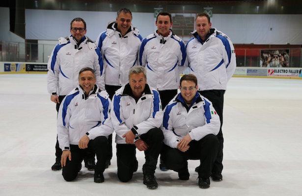Das Herren-Team: Vorne - Roman Zublasing, Walter Prast, Stefan Roalter. Hinten-  Markus Niederkofler, Karl Abfalterer, Reinhold Oberhammer, Matthias Morandell.