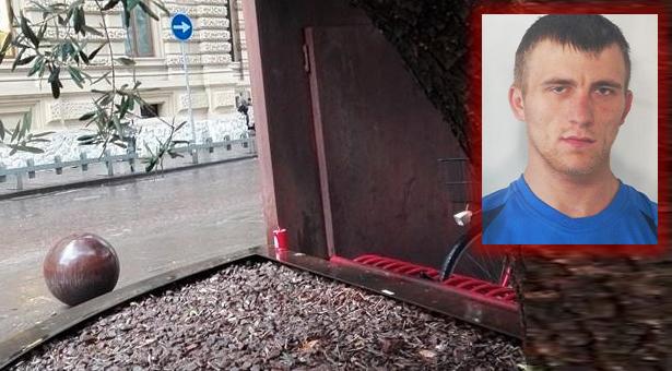 Der Fundort der Leiche des Obdachlosen, Tatverdächtiger Adrian Zelech