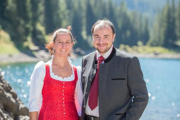 Stefan Zelger, Sekretär der Landtagsfraktion und Myriam Atz Tammerle