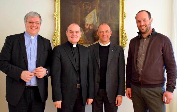 Roberto Tommasi, Bischof Muser, Eugen Runggaldiert und Reinhard Demetz