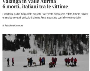Screenshot Corriere della Sera