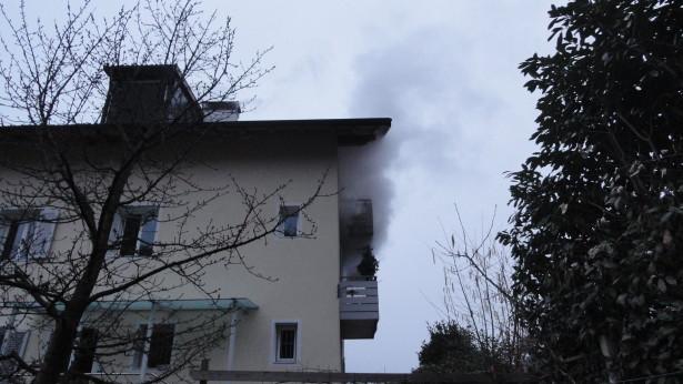 Der Brand in Terlan (Foto: FF Terlan)