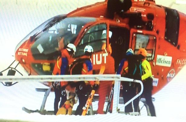 Der Rettungseinsatz (Foto: Rai Südtirol)