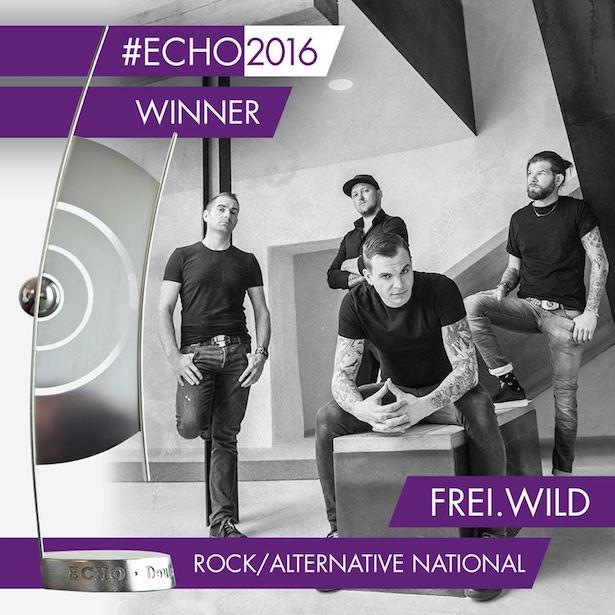 Frei.Wild gewinnt den Echo (Fotos: Facebook)