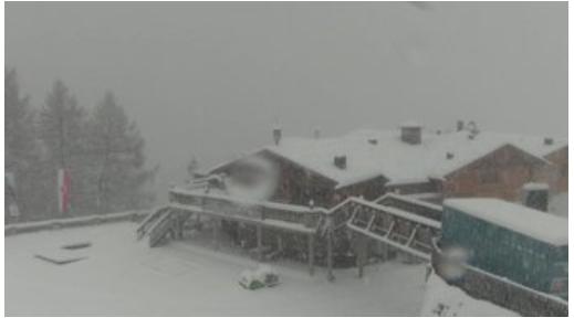 Schneefälle am Klausberg (Foto: Beterin/Twitter)