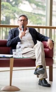 Noch ein angenehmer Gast: Sergio Castellitto, hier beim spannenden Publikumsgespräch im Stadttheater
