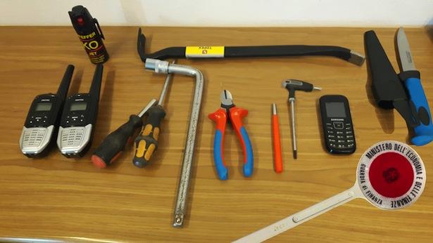 Das sichergestellte Einbrecherwerkzeug