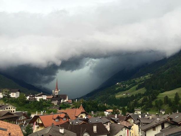 Das Gewitter im Passeiertal (Alle Fotos: FF St. Leonhard)