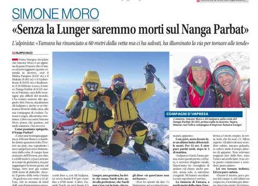 """Der Artikel in der Zeitung """"Libero"""""""