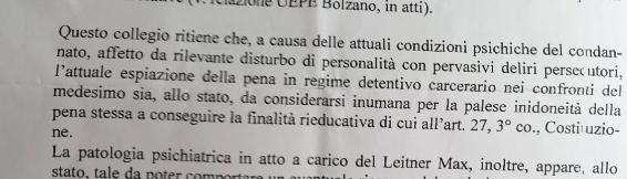 """Die Richter bezeichnen einen weiteren Gefängnisaufenthalt als """"inhuman"""""""