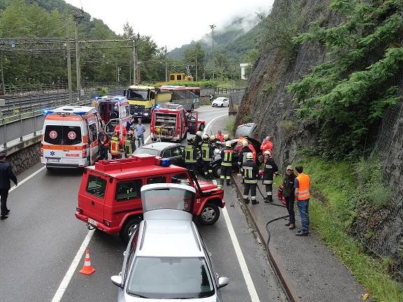 Der Unfall (Foto: FF Karneid)