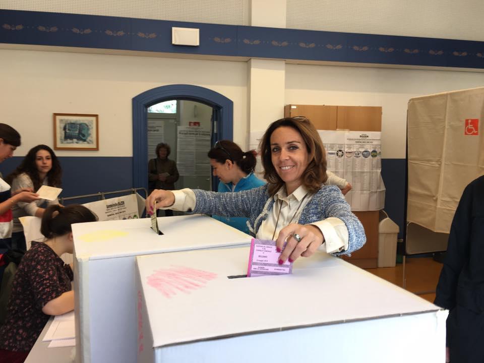 Elena Artioli bei der Wahl (Foto: Facebook)