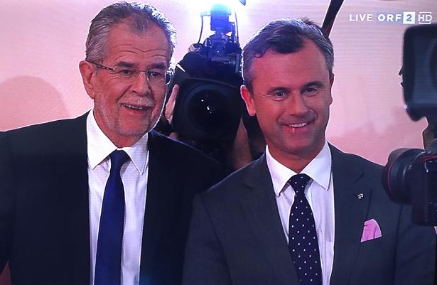 Die beiden Kandidaten am Sonntag im ORF