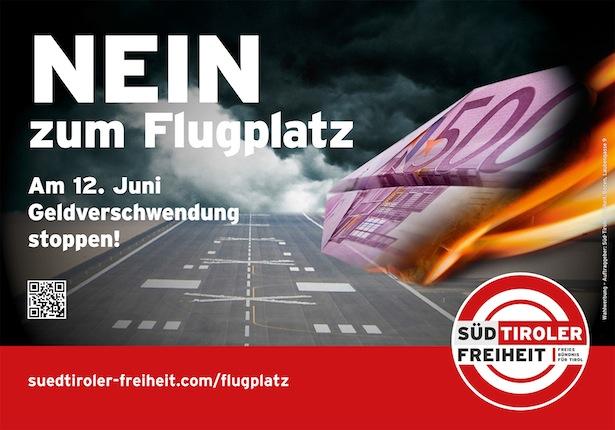 Das Plakat der Süd-Tiroler Freiheit