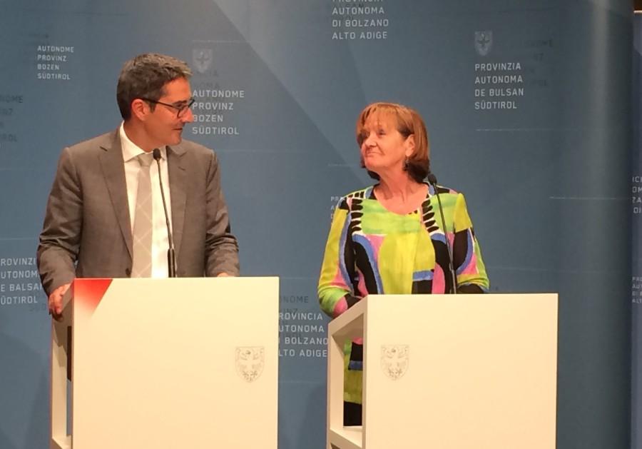 Arno Kompatscher und Martha Stocker