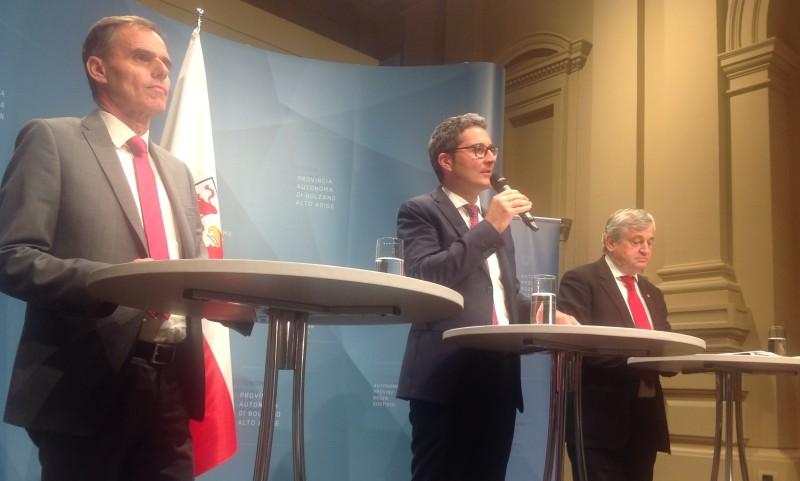 Richard Theiner, Arno Konpatscher und Florian Mussner