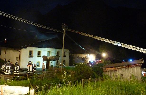Der Einsatz der Feuerwehr in Pfitsch (Foto: FF Sterzing)