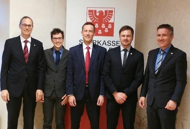 Im Bild v.l.n.r. Moritz Moroder, Robert Nöckler, Gerd Stolzlechner, Matthias Kammerlander und Kurt Albert Jesacher.
