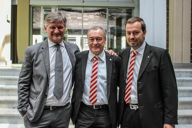 Roberto Zanin mit Walter Baumgartner und Dietmar Pfeifer