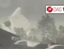 Sturm zerstört Zelt