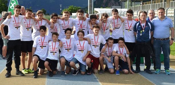 Die U13-Mannschaft des Bozner FC
