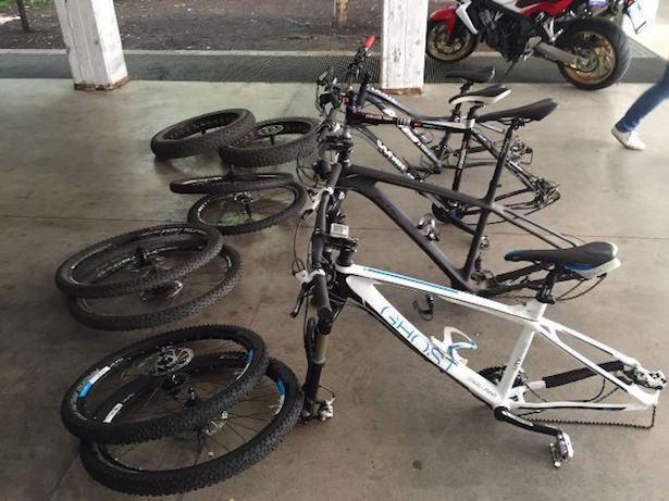Die beschlagnahmten Fahrräder