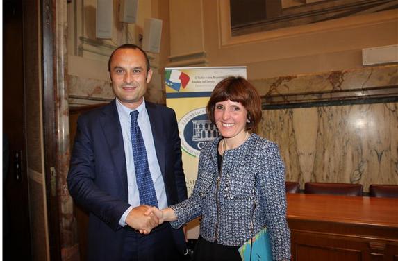 Landesrätin Deeg mit Minister Costa