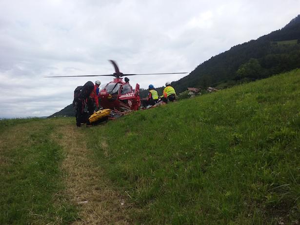 Einsatz für die Bergrettung Tiers und den Rettungshubschrauber des Akut Alpin