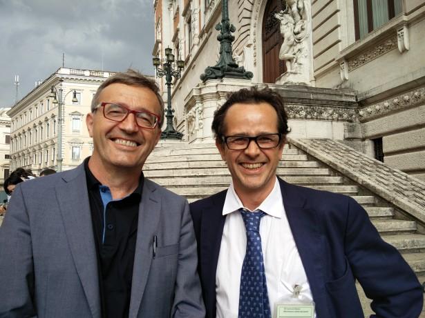 """Florian Kronbichler und """"Hanf"""" Peter Grünfelder in Rom"""