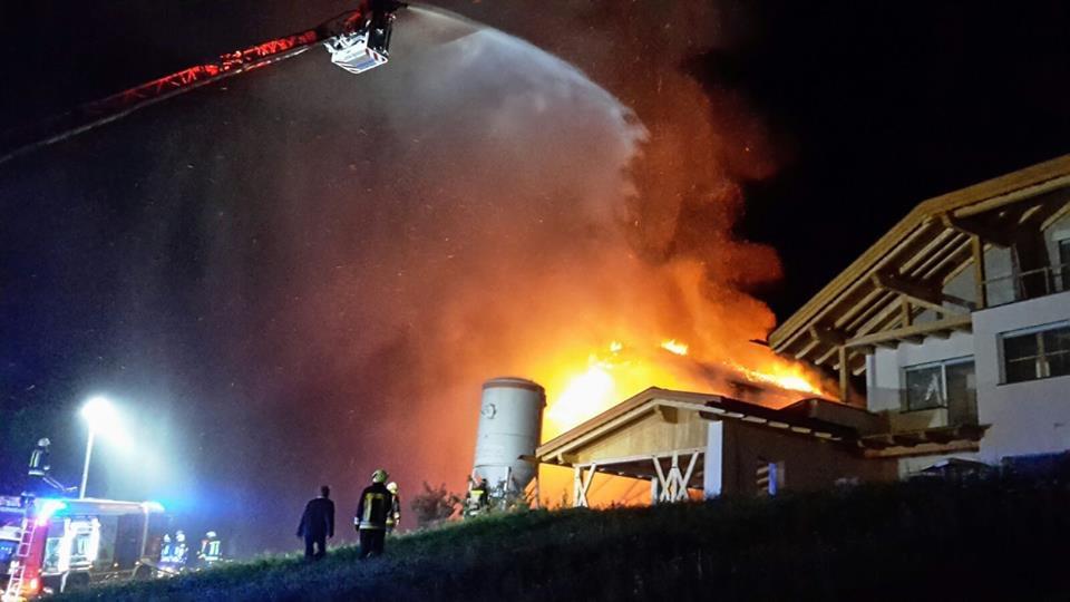 Der Feuerwehreinsatz (Foto: FF Klausen)