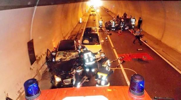 Der Unfall im Tunnel (Foto: FF Welsberg)