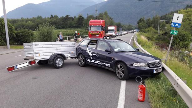 Der Unfall (Fotos: FF Schabs)