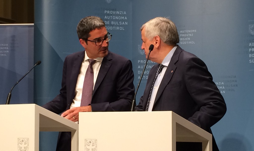 Arno Kompatscher und Florian Mussner