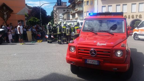 Der Unfall (Fotos: FF Leifers)