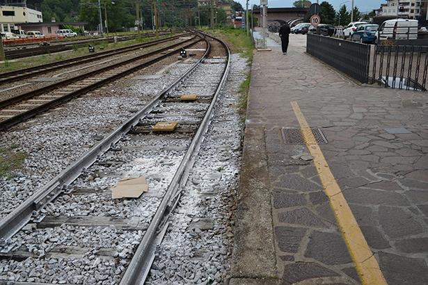 Die Unfallstelle am Bozner Bahnhof (Foto: Karl Oberleiter/Tageszeitung)
