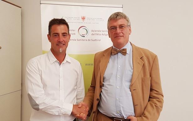 Primar Thomas Gamper mit Generaldirektor Thomas Schael