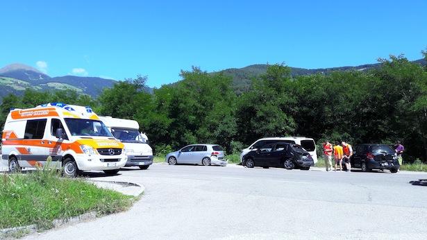 Der Unfallort (Fotos: FF Schabs)