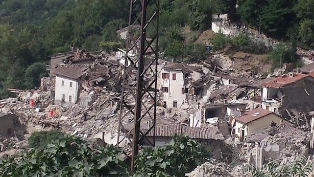 Der zerstört Ort Amatrice (Foto: Rieti Life)