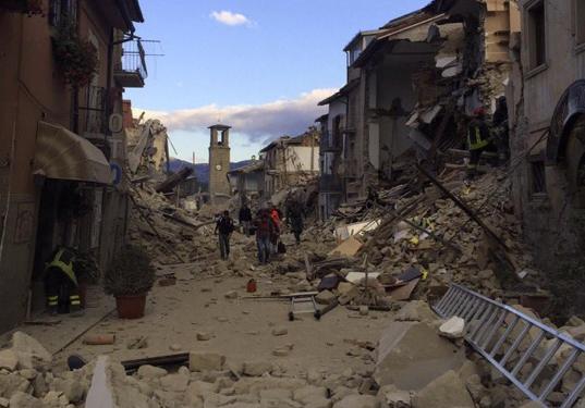 Die Ortschaft Amatrice (Foto: Rieti Life)
