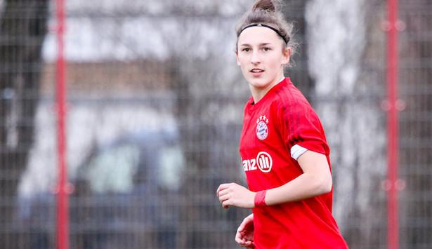 Melanie Kuenrath im Spiel gegen SV Alberweiler (Foto: Christian Riedel)