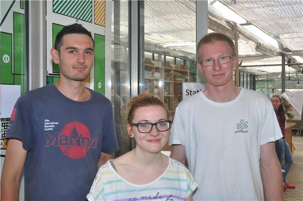 Claudia Oberhofer, Dominik Gaiser (l.) und Moritz Griesser (r.)