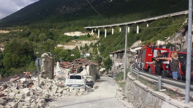 Die Schäden (Foto: Rieti Life)