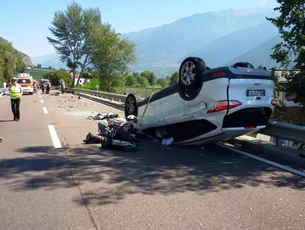 Der Unfallwagen (Foto: FF Goldrain)
