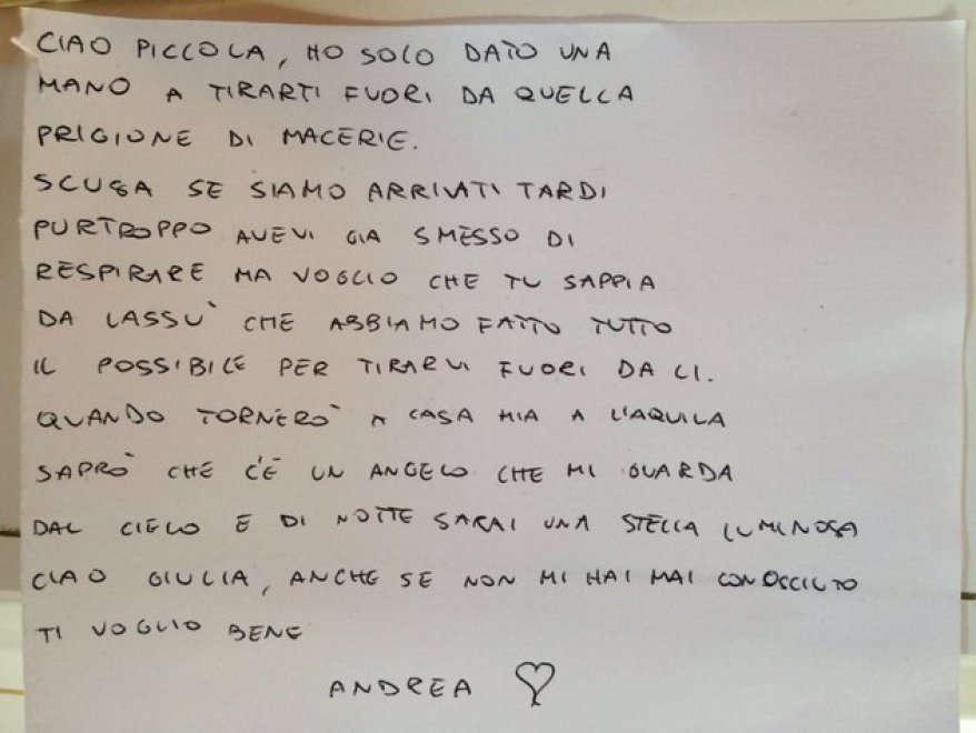 Der Brief des Feuerwehmannes (Repubblica)