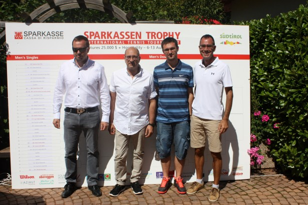 Dietmar Pfeifer (Turnierdirektor), Guido Pezzella (Supervisor), Georg Morandell (OK-Chef) und Christian Pfeifer (Ex-OK-Chef).