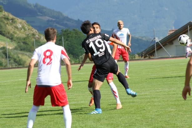 Szene aus dem Freundschaftsspiel FCS gegen Augsburg