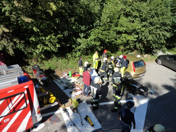 Der Unfallort (Foto: FF Kardaun)