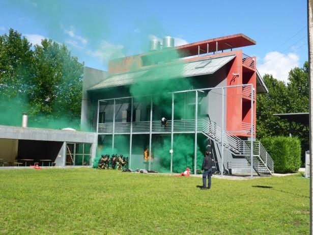 Die Übung (Fotos: Landesfeuerwehrschule)